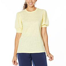 DG2 by Diane Gilman Balloon-Sleeve Tee