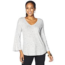 DG2 by Diane Gilman Boxy Top with Faux Pearls