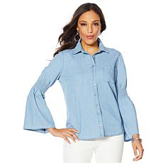 DG2 by Diane Gilman Boyfriend Denim Shirt