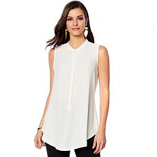DG2 by Diane Gilman Button-Front Tunic Tank