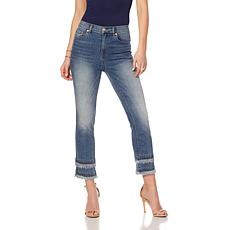 DG2 by Diane Gilman Classic Frayed-Hem Cropped Jean - Basic