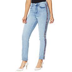 DG2 by Diane Gilman Classic Stretch Bouclé Stripe Skinny Jean - Basic