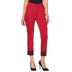 DG2 by Diane Gilman Classic Stretch Cuffed Cropped Jean  - Fashion