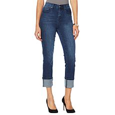 DG2 by Diane Gilman Classic Stretch Cuffed Cropped Jean  - Basic