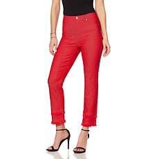 DG2 by Diane Gilman Classic Stretch Double Fray Cropped Jean - Fashion