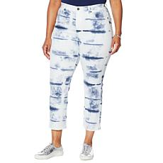 DG2 by Diane Gilman Classic Stretch Tie-Dye Straight Cropped Jean