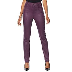 DG2 by Diane Gilman Coated Stretch Skinny Jean