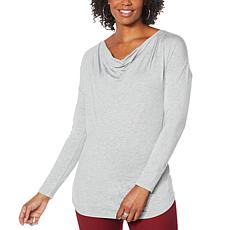 DG2 by Diane Gilman Cowl-Neck Long-Sleeve Top