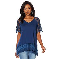 DG2 by Diane Gilman Crochet Lace Top