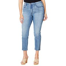 DG2 by Diane Gilman Cropped Skinny Jean with Studded Side Gusset