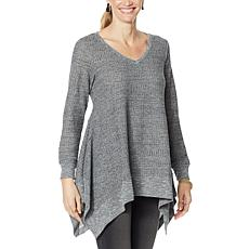 "DG2 by Diane Gilman ""DG Downtime"" Drama Top with Combo Fabric"