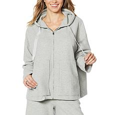 "DG2 by Diane Gilman ""DG Downtime"" Textured Knit Zip-Front Hoodie"