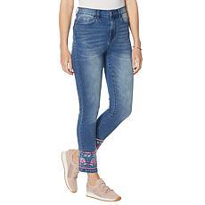DG2 by Diane Gilman Embellished Hem Ankle Skinny Jean