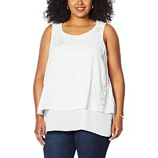 DG2 by Diane Gilman Embroidered Easy Tank