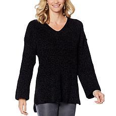 DG2 by Diane Gilman Heathered Chenille Boyfriend Sweater