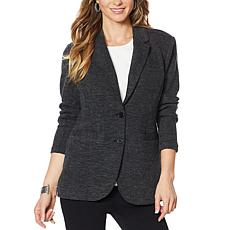 DG2 by Diane Gilman Heathered Double Knit Blazer