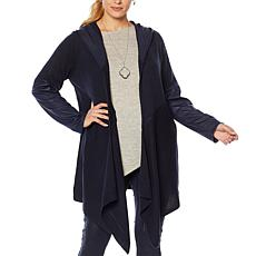 DG2 by Diane Gilman Hooded Sweater Knit Topper