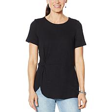 DG2 by Diane Gilman Knotted Drape Waist Tee
