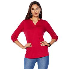 DG2 by Diane Gilman Long-Sleeve Pocket Tee