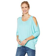 DG2 by Diane Gilman Pleat-Front Dolman Top