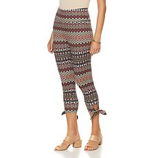 DG2 by Diane Gilman Printed Side-Tie Capri Legging