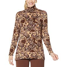 DG2 by Diane Gilman Printed Turtleneck Top