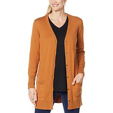 DG2 by Diane Gilman Quad Blend Long Cardigan