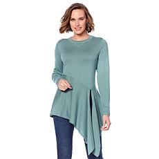 DG2 by Diane Gilman Quad Blend Split-Hem Sweater
