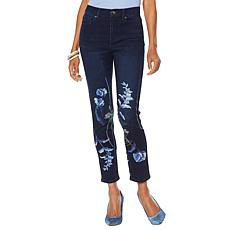 DG2 by Diane Gilman Screen-Printed Straight Cropped Jean - Basic