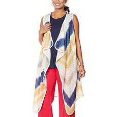 DG2 by Diane Gilman Sleeveless Tie Dye Duster
