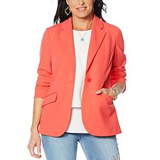DG2 by Diane Gilman Stretch Crepe Blazer - Solid