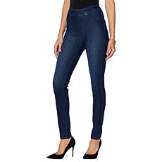 DG2 by Diane Gilman Stretch Twill Knit Pull-On Skinny Jegging - Basic