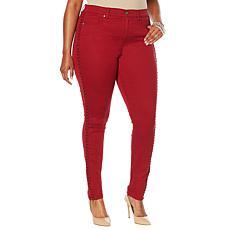 DG2 by Diane Gilman Virtual Stretch Braided Side Skinny Jean  -Fashion