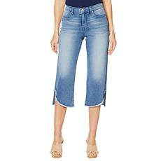 DG2 by Diane Gilman Wide-Leg Curved Raw-Hem Cropped Jean - Basic