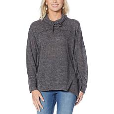 DG2 by Diane Gilman Wooley Booley Cowl-Neck Poncho Sweater