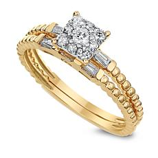 Diamond Couture 0.35ctw Diamond 14K Gold 2-piece Bridal Ring Set