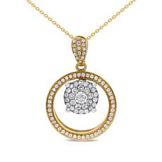 Diamond Couture 14K 0.5ctw Diamond Circle Pendant