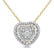 Diamond Couture 14K  0.5ctw Diamond Heart Pendant