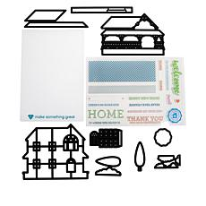 Diamond Press Cozy Cottage Stamp and Die Set