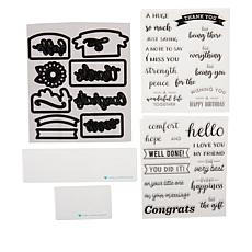 Diamond Press Everyday Greetings Stamp and Dies Set