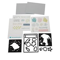 Diamond Press Keep Swimming Tunnel Card Stamp and Die Set