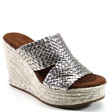 Diba True Have To Know Leather Wedge Platform Slide Sandal