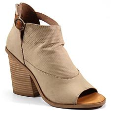 Diba True Hot Dice Leather Peep-Toe Bootie