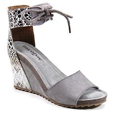 Diba True Nite Lite Nubuck Leather Wedge Sandal