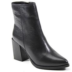 Diba True Tall Toes Leather Block-Heel Bootie
