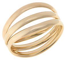 Dieci 10K Electroform Triple-Row Band Ring