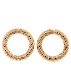 Dieci 10K Gold Diamond-Cut Open Circle Earrings
