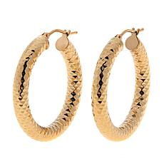 Dieci 10K Gold Diamond-Cut Round Hoop Earrings