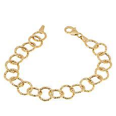 Dieci 10K Gold Diamond-Cut Round-Link Bracelet
