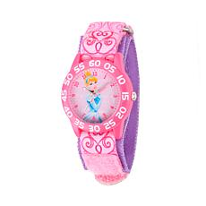 Disney Cinderella Kid's Time Teacher Watch w/ Printed Stretch Strap